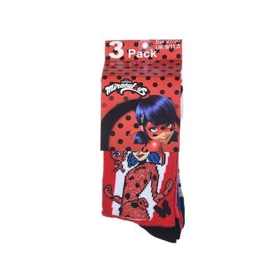 Шкарпетки, 3 пари, LADY BUG, Червоний, Sun City Франція, 21OZ