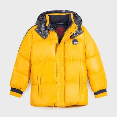 Куртка, з капюшоном, Бурштиновий, Mayoral Іспанія, 21OZ