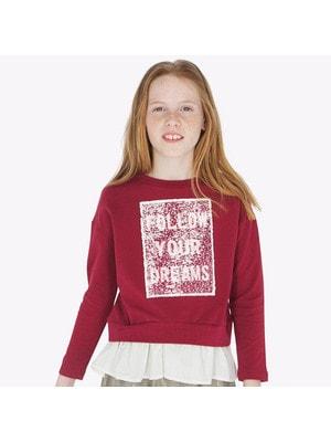 Пуловер, (двосторонні паєтки), Бордовий, Mayoral Іспанія, 20OZ