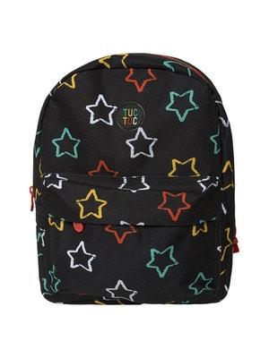 Рюкзак в різнокольорових зірочках, Чорний, TucTuc Іспанія, 20OZ