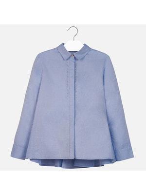 Блуза, довгий рукав, Блакитний, Mayoral Іспанія, 20OZ