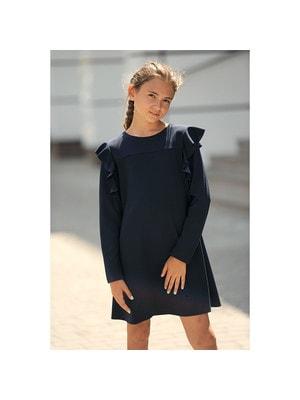 Шкільна форма, Сукня довгий рукав, Темно-синій, REMIX Польща, 19Ошкола