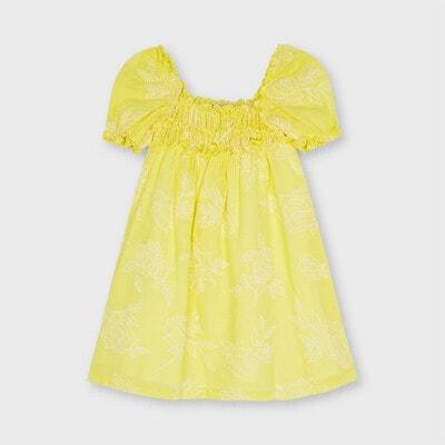 Сукня, у вишитих квітах, Жовтий, Mayoral Іспанія, 21VL