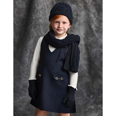 Головний убір Комплект, Шапка + шарф + рукавички, Темно-синій, Abel & lula Іспанія, 22OZ