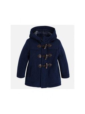 Пальто з капюшоном Темно-синій 40%Bовна 40% Поліестер 20% Акрил