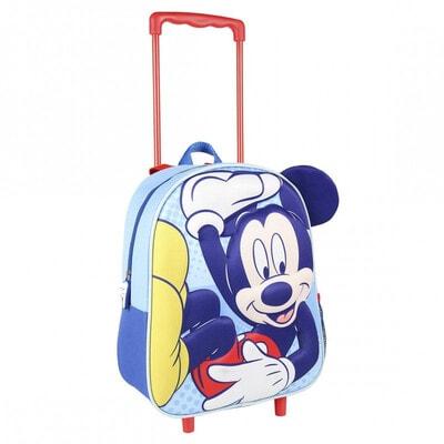 Сумка-рюкзак на колесах 3D Mickey (35х25х10) Cerda, Синий, Disney Испания, 21OZ