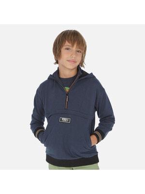 Пуловер, з капюшоном, Синій, Mayoral Іспанія, 20VL