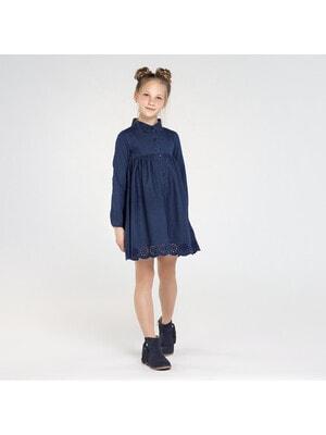 Сукня, довгий рукав, Темно-синій, Mayoral Іспанія, 21OZ