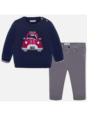 Комплект, Светр темно-синій + штани, Сірий, Mayoral Іспанія, 20OZ