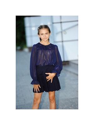Шкільна форма, Блуза, довгий рукав, Темно-синій, REMIX Польща, 19Ошкола