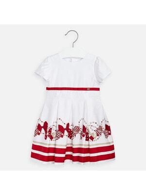 Сукня, (малинові бантики), Білий, Mayoral Іспанія, 20VL
