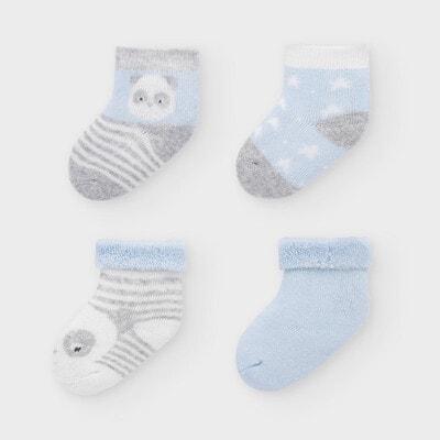 Набір шкарпеток 4 пари, Блакитний, Mayoral Іспанія, 21OZ