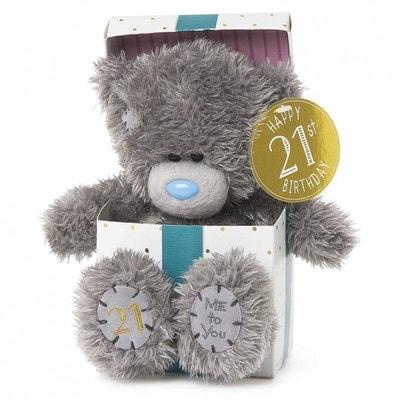 Іграшка М'яка, Ведмедик Тедді з Днем Народження 21 рік,  18 см, Me To You Великобританія