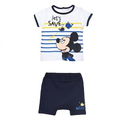 Комплект, Футболка + сині шорти MICKEY   Disney, Білий, Sun City Франція, 21VL