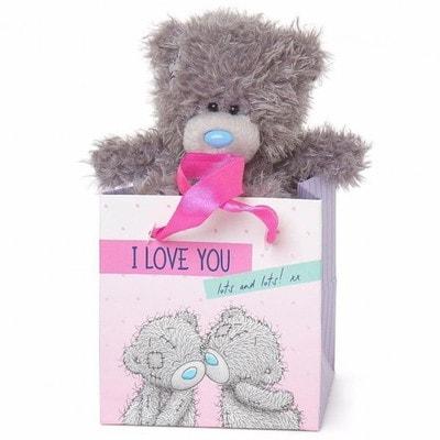 """Іграшка М'яка, Ведмедик Тедді в коробочці """"I Love You"""", 13 см, Me To You Великобританія"""