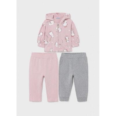 Комплект, Кофта + штани 2 шт. (1 - сірі), утеплений, Рожевий, Mayoral Іспанія, 22OZ