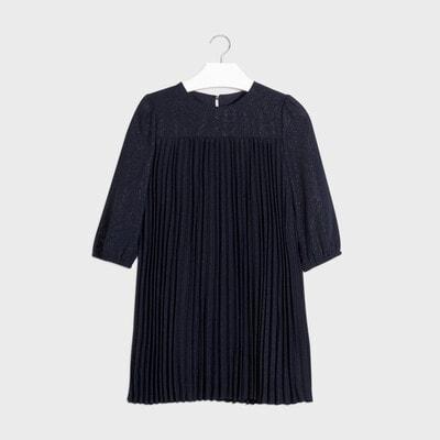 Сукня, в складочку, довгий рукав, Темно-синій, Mayoral Іспанія, 21OZ