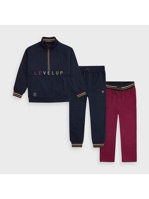 Комплект Спортивний, Пуловер + штани 2 шт. (1-бордові), Темно-синій, Mayoral Іспанія, 21OZ