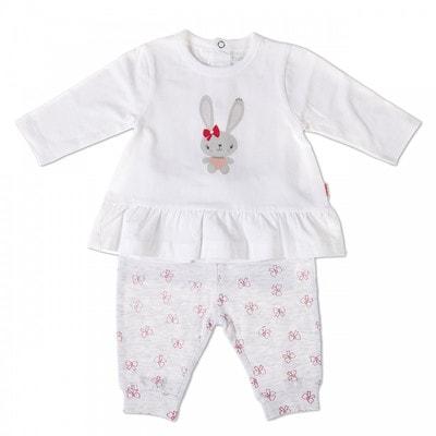 Комплект, Джемпер  + штани сірі в бантиках, Білий, Babybol Іспанія, 19VL