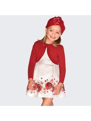 Сукня, короткий рукав  (знизу троянди), Рожевий, Mayoral Іспанія, 20OZ