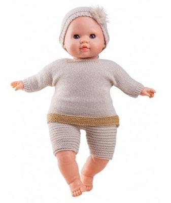 Іграшка Лялька Пупс, Марк у бежевому в'язаному одязі 36см, Paola Reina Іспанія