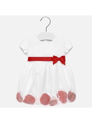 Сукня, червоні пелюстки, Білий, Mayoral Іспанія, 19VL