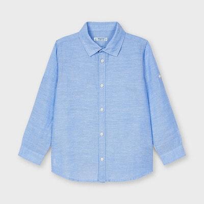 Сорочка, довгий рукав, Блакитний, Mayoral Іспанія, 21VL