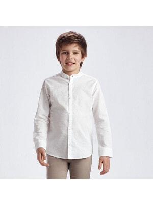 Сорочка, довгий рукав, Білий, Mayoral Іспанія, 21VL