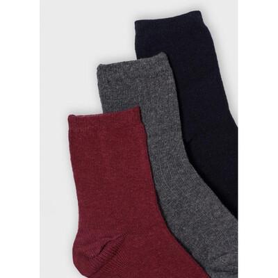 Шкарпетки, 3 пари, Бордовий, Mayoral Іспанія, 22OZ