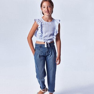 Штани, джинси світлі, Синій, Mayoral Іспанія, 21VL