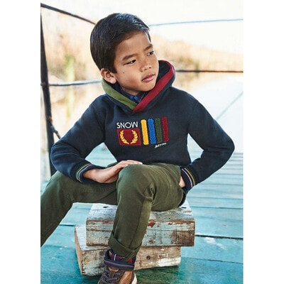 Пуловер, з капюшоном, утеплений, Темно-синій, Mayoral Іспанія, 22OZ