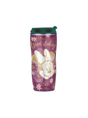 """Бутылка для питья (зеленая крышка) 400 мл """"MINNIE"""", Фиолетовый, Disney Польша"""