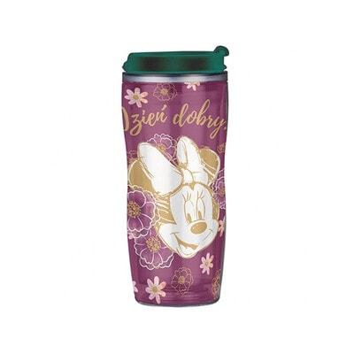 """Пляшка для пиття  (зелена кришка) 400 мл  """"MINNIE"""", Фіолетовий, Disney Польща"""