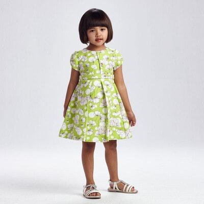 Сукня, в білих квітах, Зелений, Mayoral Іспанія, 21VL