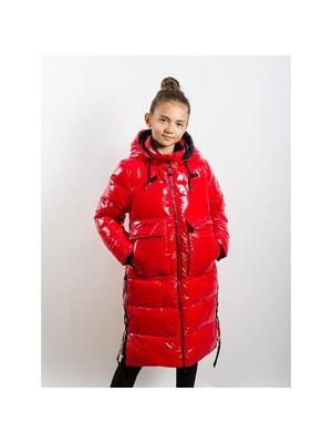 Пальто, з капюшоном, Червоний, ТМ  K`ko, 20OZ