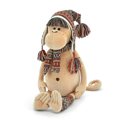Іграшка М'яка, Мавпочка в альпійській шапці і шарфику 55 см., ORANGE Китай