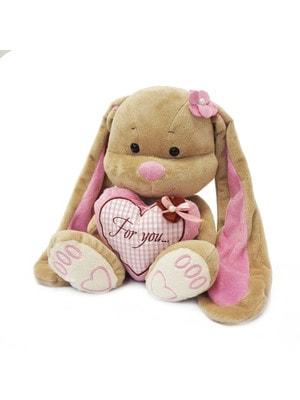 Іграшка М'яка, Зайка Лін з сердечком, 25 см, 3+, Jack Lin КНР