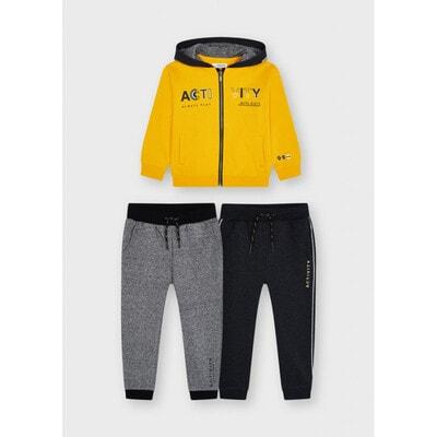 Комплект Спортивний, Кофта + сірі штани 2 шт., утеплений, Бурштиновий, Mayoral Іспанія, 22OZ