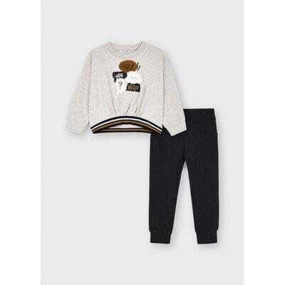 Комплект, Пуловер + сірі штани, Бежевий, Mayoral Іспанія, 22OZ