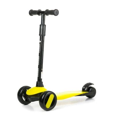 ІГРАШКА Самокат, Crosser (фіксація колес, регулюється висота ручки, світло), Жовтий, Babyhit Польща