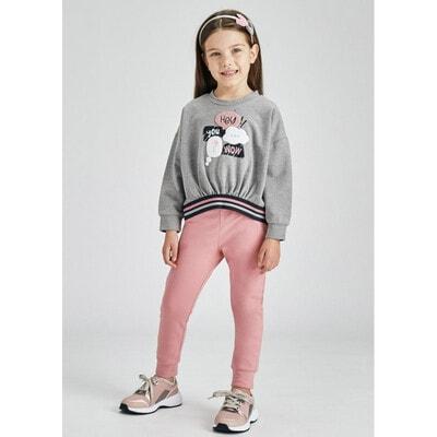 Комплект, Пуловер + рожеві штани, Сірий, Mayoral Іспанія, 22OZ