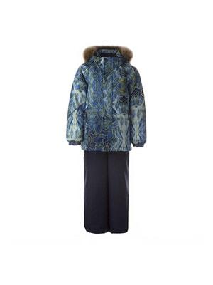 Комплект, Куртка (жовтий принт) + напівкомбінезон DANTE 1, Темно-синій, HUPPA Естонія, 21OZ