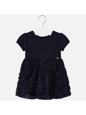 Сукня, короткий рукав, Темно-синій, Mayoral Іспанія, 20OZ