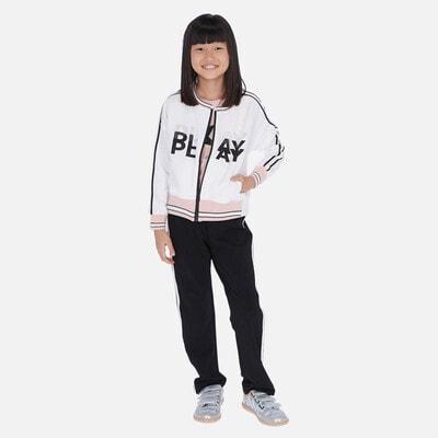 Комплект, Спортивний Кофта біла + штани, Чорний, Mayoral Іспанія, 20VL