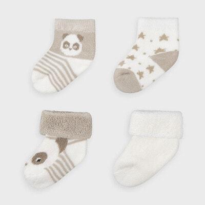 Набір шкарпеток 4 пари, Бежевий, Mayoral Іспанія, 21OZ