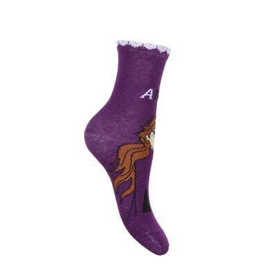 Шкарпетки, 3 пари, FROZEN ІІ, Фіолетовий, Sun City Франція, 21OZ