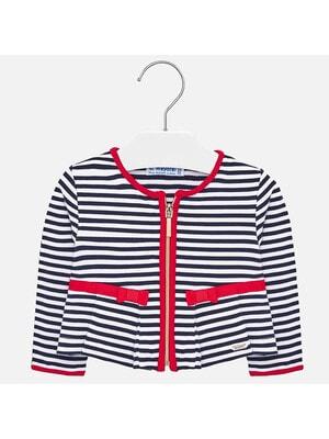 Піджак, в білу смугу, червоні вставки, Темно-синій, Mayoral Іспанія, 20VL