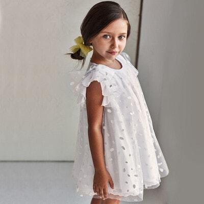 Сукня, в блискітках, Білий, Mayoral Іспанія, 21VL