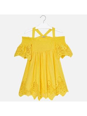 Сукня, Жовтий, Mayoral Іспанія, 19VL