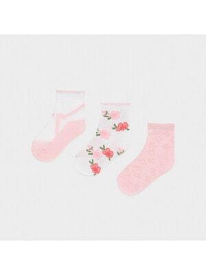Шкарпетки, 3 пари, Рожевий, Mayoral Іспанія, 21VL